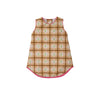 Annie Apron Dress - Plandome Plaid with Hamptons Hot Pink