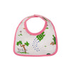 Bellyfull Bib - Slow and Steady Wins the Race with Hamptons Hot Pink Trim