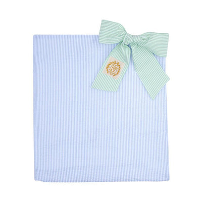 Bonnie Beach Towel - Breakers Blue Seersucker with Marietta Mint Seersucker Ties