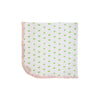 Baby Buggy Blanket - Old Town Tulip with Palm Beach Pink