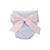 Baby Bow Bottom Bloomer - Breakers Blue Seersucker with Plantation Pink Bow