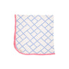 Baby Buggy Blanket - Bamboo Proverbs with Hamptons Hot Pink