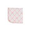Baby Buggy Blanket - Belle Meade Bow with Palm Beach Pink