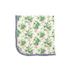 Baby Buggy Blanket - Grove Park Garden with Park City Periwinkle