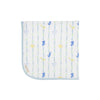 Baby Buggy Blanket - Rockabye Ribbons with Buckhead Blue