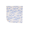 Baby Buggy Blanket - St. Simon's Sailboat (blue) with Worth Avenue White