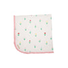 Baby Buggy Blanket - Travilah Tulip with Sandpearl Pink