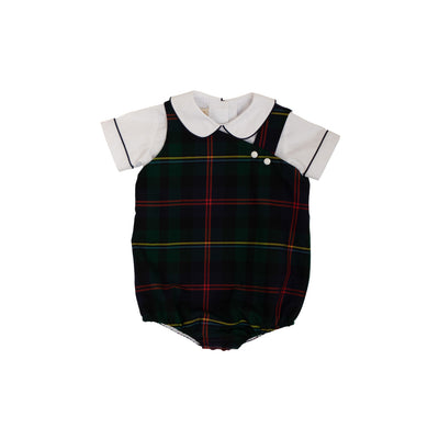 Barr Clay Bubble - Worth Avenue White with Horse Trail Tartan