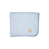 Barrett Beach Towel - Buckhead Blue Gingham with Park City Periwinkle