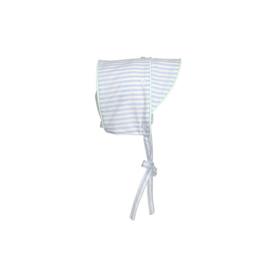 Barringer Bonnet - Beale Street Blue Stripe with Sea Island Seafoam
