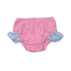 Beach Bum Bloomer - Hamptons Hot Pink Terry Cloth with Boone Hall Blue Stripe