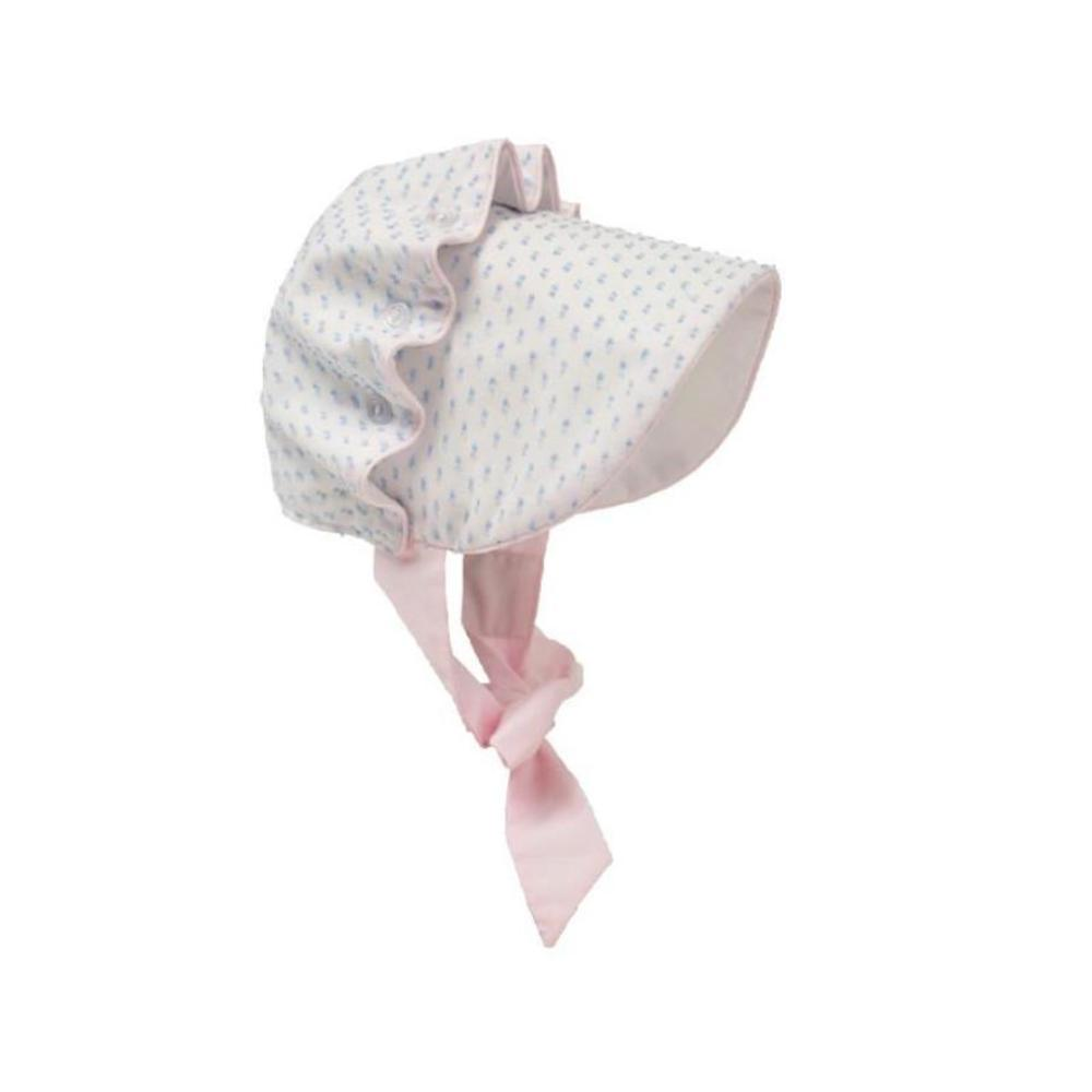 Beaufort Bonnet - Buckhead Blue Dixie Dot with Plantation Pink