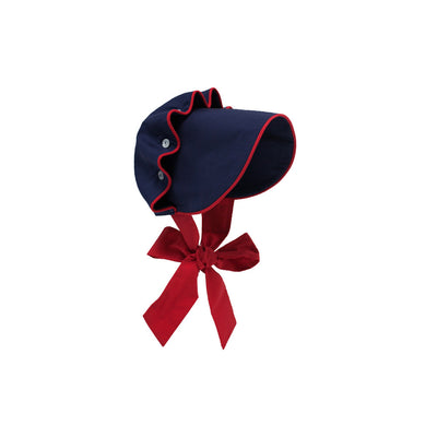 Beaufort Bonnet - Nantucket Navy with Richmond Red Trim