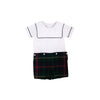 Beauregard Button-Ins - Worth Avenue White with Horse Trail Tartan