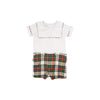 Beauregard Button-Ins - Worth Avenue White with Aiken Place Plaid