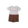 Beauregard Button Ins - Worth Avenue White with Keswick Hall Holiday Plaid