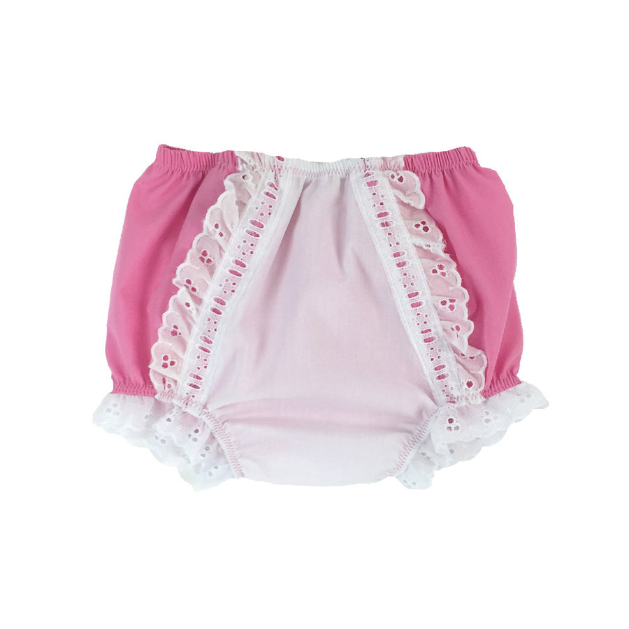 Belle's Bloomers - Hamptons Hot Pink with White