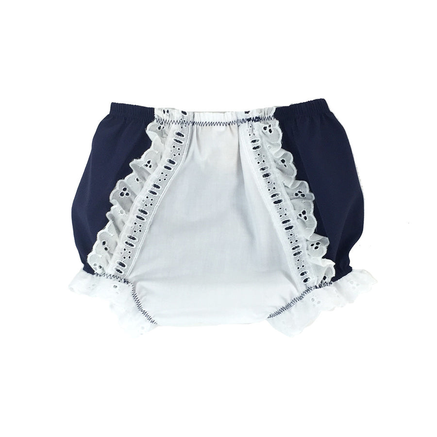 Belle's Bloomers - Nantucket Navy with White