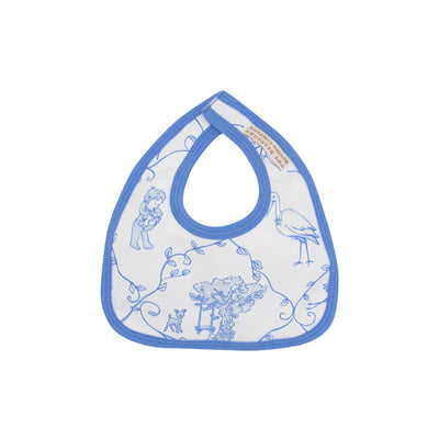 Bellyful Bib - Chinoiserie Chap with Barbados Blue