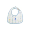 Bellyful Bib - Rockabye Ribbons with Buckhead Blue