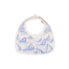 Bellyful Bib - St. Simon's Sailboat (blue) with Worth Avenue White