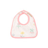 Bellyful Bib - Sweet Pea Scribbles with Sandpearl Pink