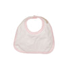 Bellyfull Bib - Worth Avenue White with Plantation Pink Micro Dot