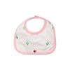 Bellyfull Bib - Travilah Tulip with Sandpearl Pink