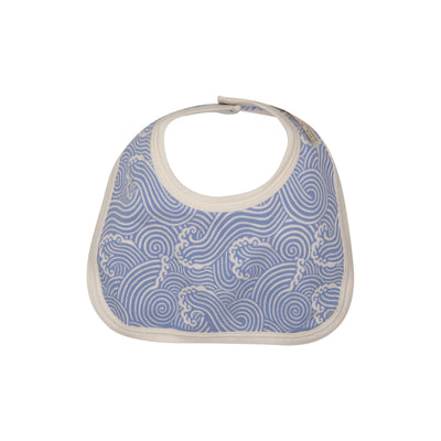 Bellyfull Bib - Wilmington Waves with Palmetto Pearl