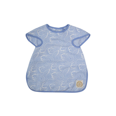 Big Bite Bib - Wilmington Waves with Park City Periwinkle