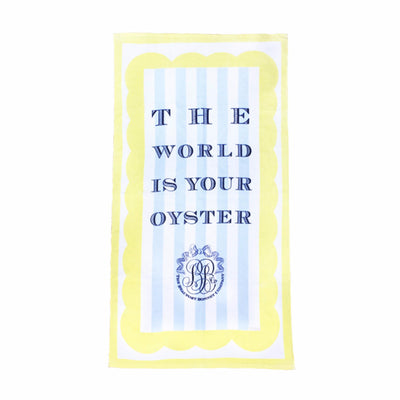 Boardwalk Beach Towel - The World is Your Oyster
