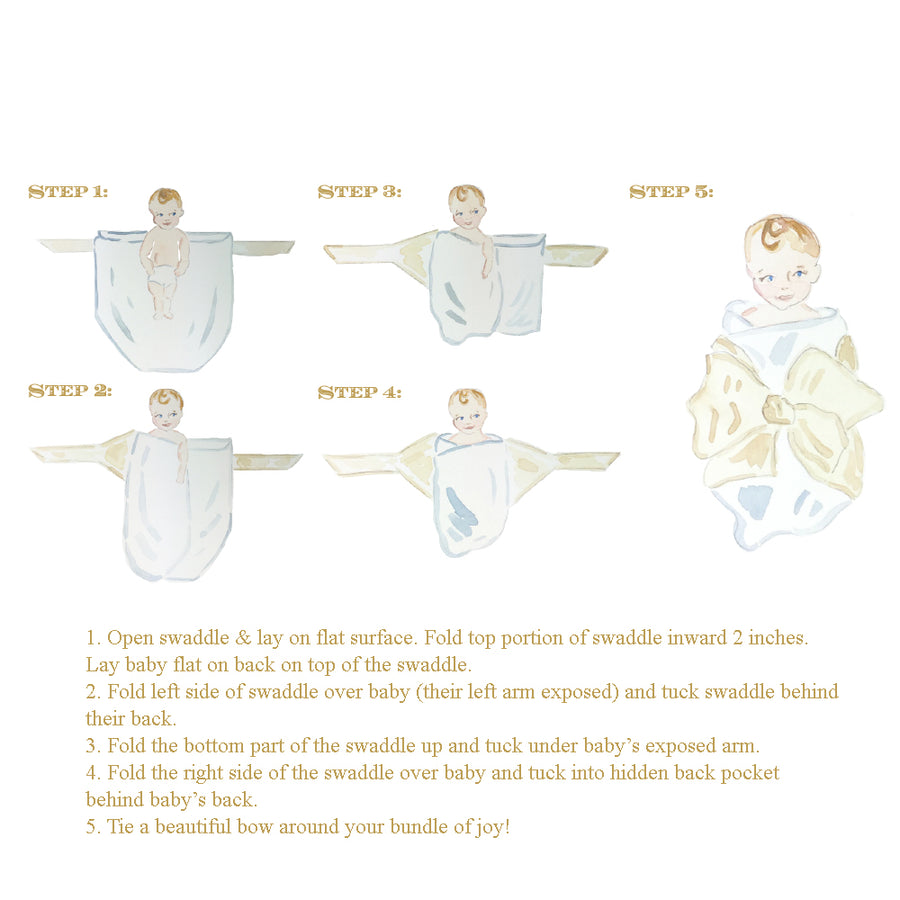 Silk Bow Swaddle <sup>®</sup> - Southern Blush Silk