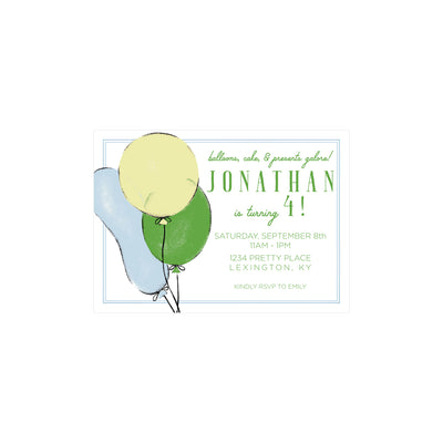 Birthday Invitations - Party Like It's Your Birthday with Blue