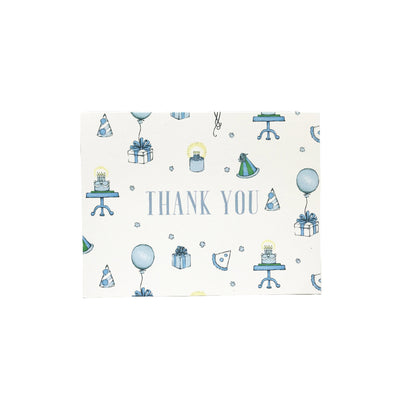 Thank You Cards - Party Like It's Your Birthday with Blue