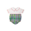 Bradford Bubble - Worth Avenue White with Primary School Plaid