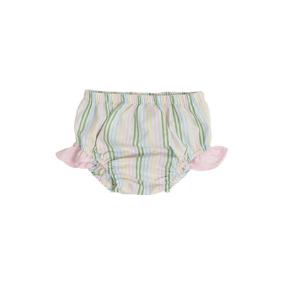 Byrde Bloomers - Rainbow Row Stripe with Palm Beach Pink