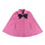 Callahan Cloak - Hamptons Hot Pink with Travers Tartan Bow