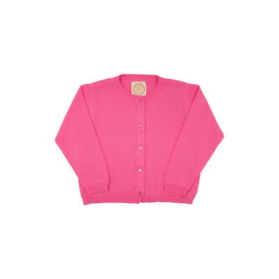 Cambridge Cardigan - Hamptons Hot Pink with Pearlized Buttons