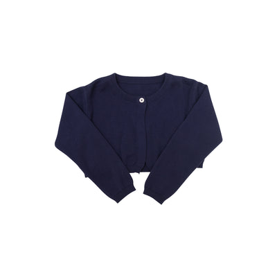 Cambridge Cropped Cardigan - Nantucket Navy