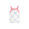 Caroline Camisole - Belle Meade Bow Park City Periwinkle with Hamptons Hot Pink