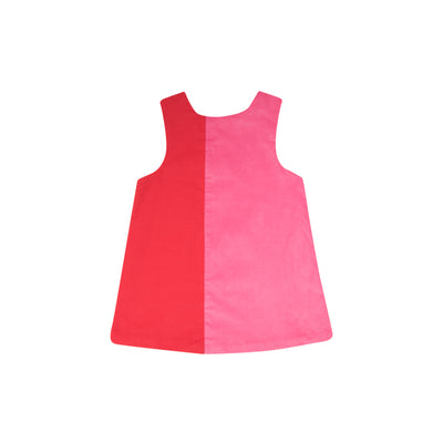 Caroline Colorblock Jumper - Richmond Red and Hamptons Hot Pink Corduroy