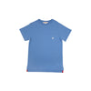 Carter Crewneck (with pocket) - Sunrise Blvd. Blue with Worth Avenue White Stork