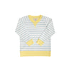 Cassidy Comfy Crewneck (Unisex) - Buckhead Blue Stripe with Lake Worth Yellow