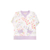 Cassidy Comfy Crewneck - Harbour Island Hummingbird with Lauderdale Lavender