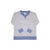 Cassidy Comfy Crewneck (Unisex) - Park City Periwinkle Stripe with Park City Periwinkle