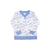 Cassidy Crewneck - St. Simon's Sailboat (blue) with Barbados Blue