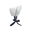 Catesby Country Club Bonnet - Worth Avenue White with Nantucket Navy & White Stripes