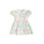 Cindy Lou Sash Dress - Belvedere Blooms with Palm Beach Pink & Worth Avenue White
