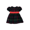Cindy Lou Sash Dress - Horse Trail Tartan with Richmond Red