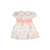 Cindy Lou Sash Dress - Old South Snapdragon with Sandpearl Pink
